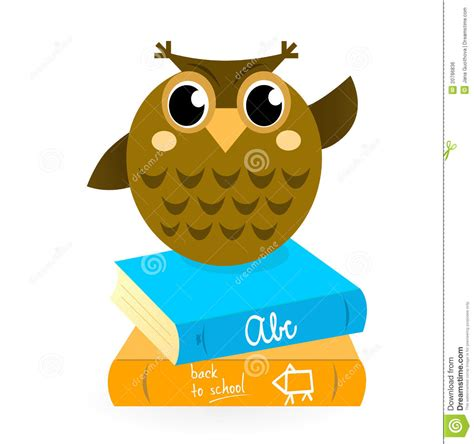 owl picture books royalty free stock image owl with books isolated