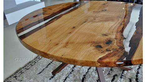 tavoli resina tavolo realizzato da azimut resine con resina trasparente