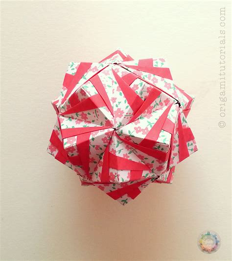 How To Make Origami Kimono - kimono sonobe kusudama tutorial origami tutorials