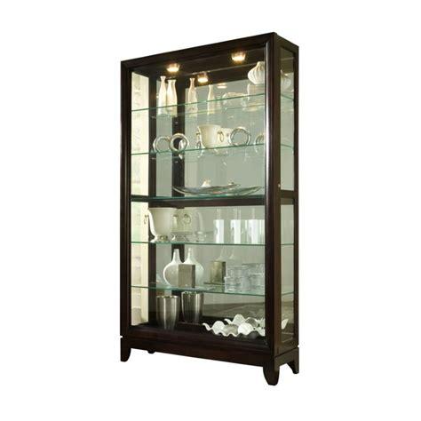 Corner Curio Cabinet In Chocolate Cherry Pulaski Chocolate Cherry 46 Inch Wide Curio Cabinet 20661