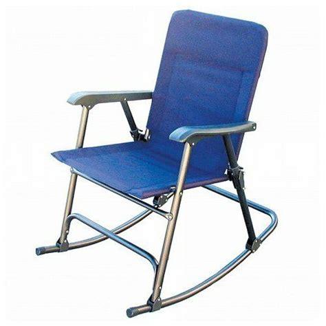 folding camping chair rocker outdoor rocking patio vintage camp comfort indoor ebay