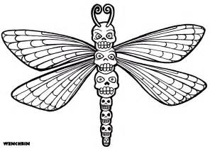 yucca flats wenchkin coloring pages skull totem dragonfly
