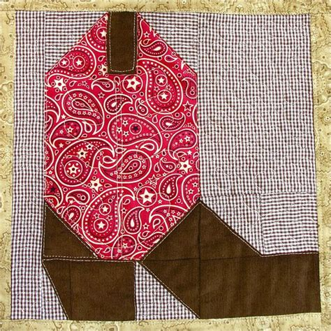 Cowboy Boot Quilt Pattern by Cowboy Boot Quilt Block Pattern Instant Digital Pdf