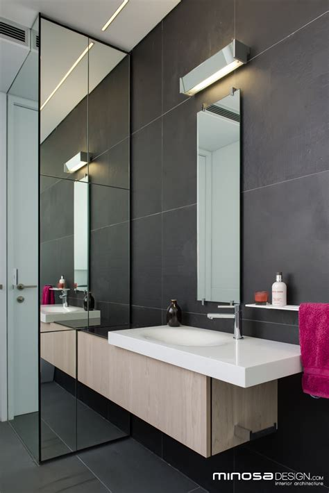 innovative   space creates  seamless bathroom design