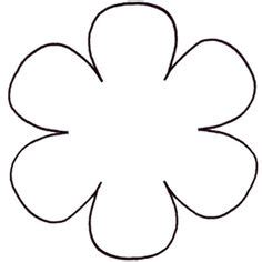 6 petal flower template these free flower petal template shapes and