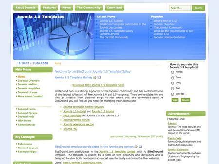 template joomla siteground free joomla template siteground j15 52
