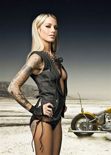 tattoo girl motorcycle hot yes there is a motorcycle in the picture