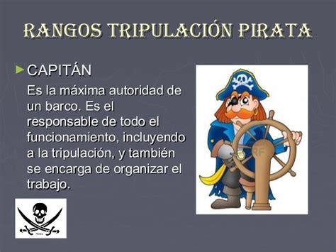 el pirata de las trabajo nora piratas rangos de la tripulaci 243 n pirata