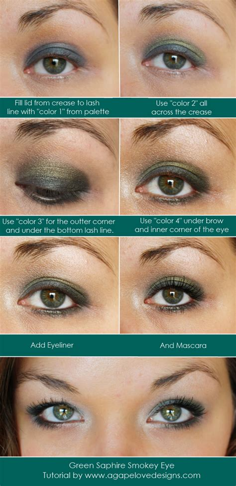 tutorial eyeshadow green agape love designs green sapphire smokey eye tutorial