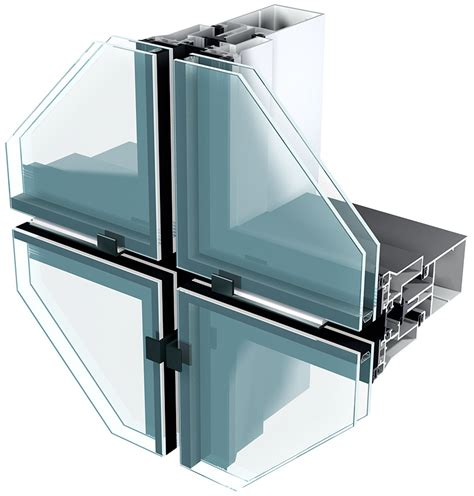 unitised curtain walling systems elegance 52 sg