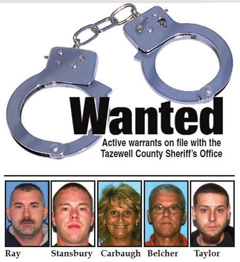 Active Warrant Search Tazewell County Sheriff S Office Active Warrants News Bdtonline