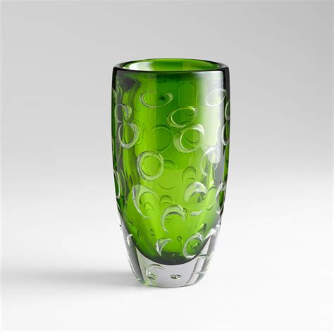 Decorating With Large Glass Vases by Large Brin Emerald Glass Vase By Cyan Design