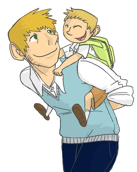 father and son cartoon father son by hallm3 on deviantart