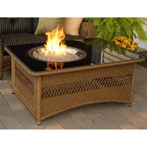 patio tables with gas pits home improvement