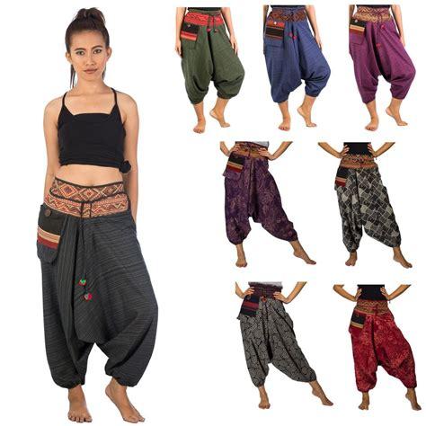 Denim 2in1 Jumpsuit hippie hmong genie hammer baggy harem trousers ebay