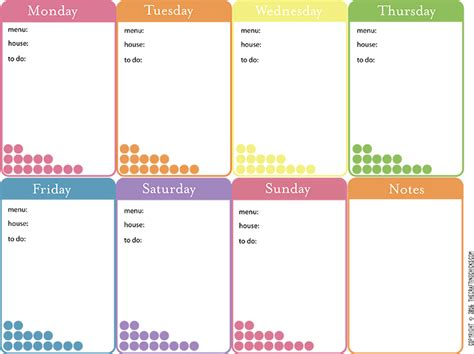 Week At A Glance Calendar Week At A Glance The Crafting