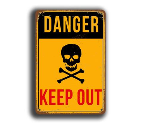 Dallas Cowboys Bedroom Decor Danger Keep Out Sign Danger Signs Classic Metal Signs
