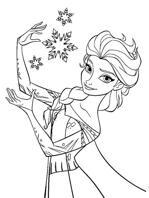 coloring pages princess elsa elsa the snow snowflakes coloring page by