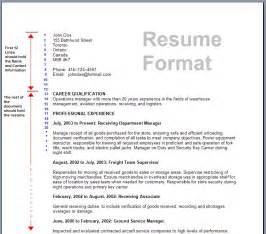 Format On Resume by Resume Format Write The Best Resume