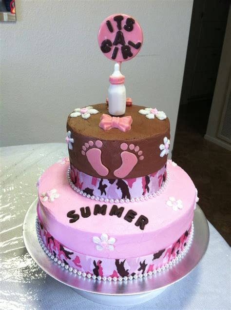 10 Best Cakes by 10 Best Pink Camo Baby Shower Cake Images On