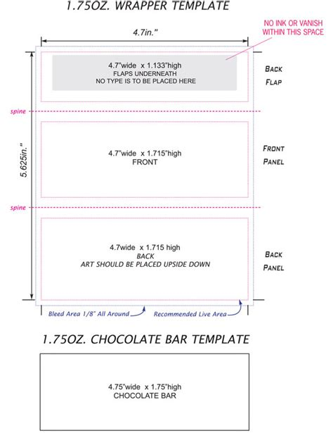 image gallery hershey bar wrapper template