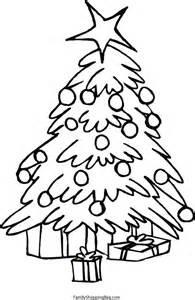 free printable christmas tree coloring pages kids