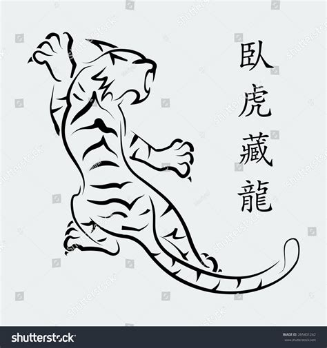 chinese tiger line drawing www pixshark com images