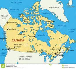 map direction canada canada vector map stock vector image of country