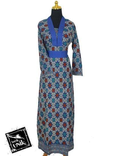 Baju Songket Batik baju batik gamis katun motif songket etnik tumpal gamis batik murah batikunik
