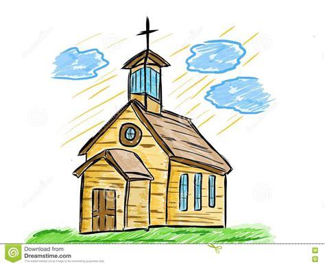 clipart chiesa disegno artistico della vecchia chiesa illustrazione di