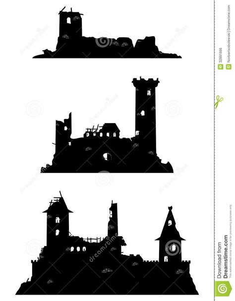 Princess Wall Art Stickers ruines de ch 226 teau image libre de droits image 32891666