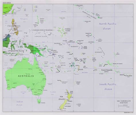 south pacific south pacific islands oceania map
