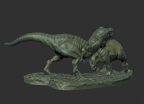 dinosaur statue  model  printable obj stl cgtradercom