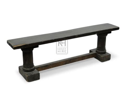 bench support benches prop hire 187 2 column leg bench with support beam