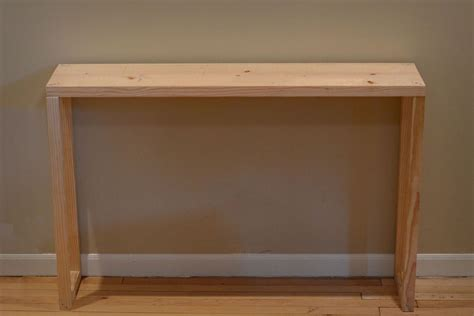 easy parsons table console entryway table diy sofa