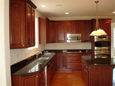 kitchen cabinets countertops ideas simple kitchen design with black granite kitchen countertops l shaped mahogany wood kitchen