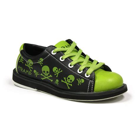 pyramid youth skull green black bowling shoes free shipping