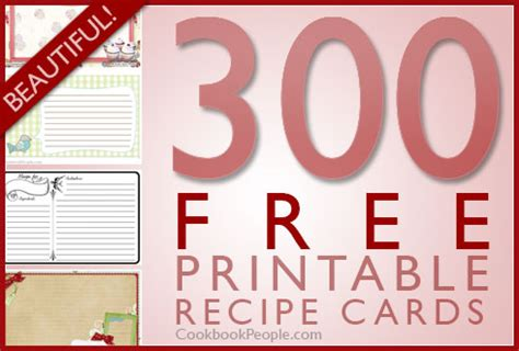 Free Template For 3x5 Recipe Cards by 300 Free Printable Recipe Cards