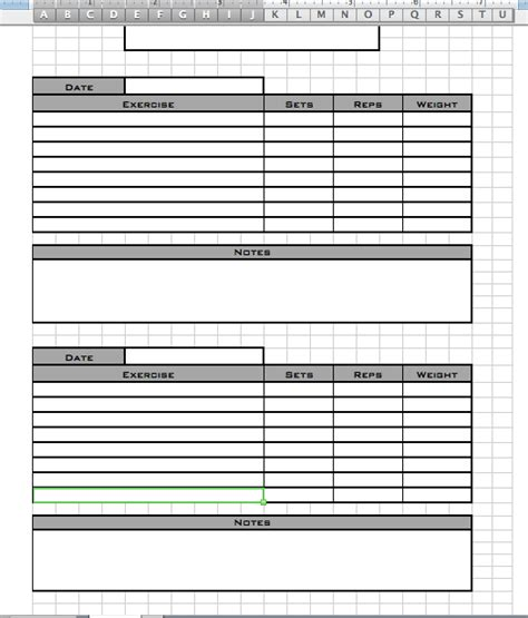 personal trainer workout template eoua