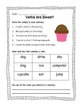 verbs  sweet verb practice nouns  verbs verb