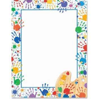 Hand Prints Border Papers   PaperDirect