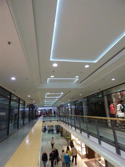 innovative light ceiling   rostocker hof shopping