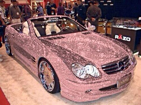 pink glitter car pink glitter mercedes bling car yay