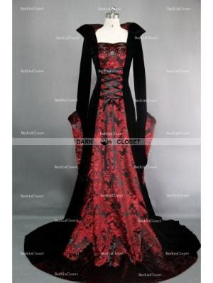 Costum Hallowen Baju Pesta F49 Dress Navy Blue Sleve navy blue and black velvet hooded gown
