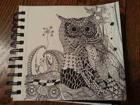 zentangle owl pattern zentangle owl m o l l y d o o d l e s pinterest owl