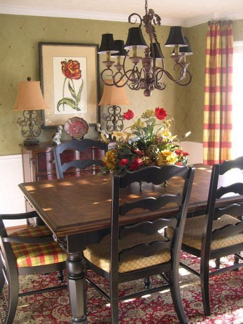 french country yellow red curtains love  rich colors
