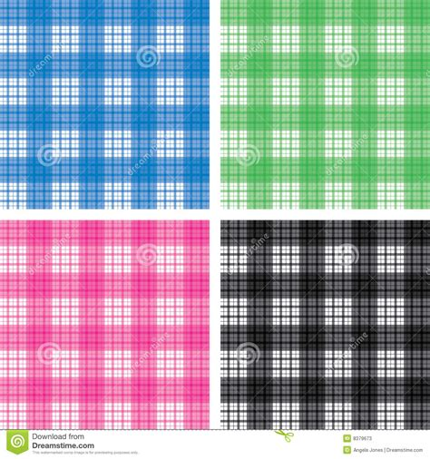 pattern check meaning seamless checked pattern set stock vector illustration