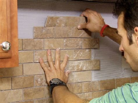 how to apply backsplash in kitchen installing a backsplash that looks like brick home sweet