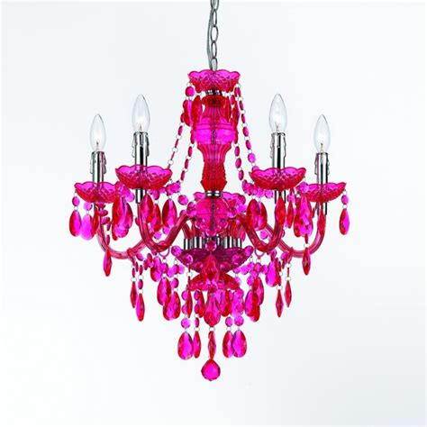 Pink Chandelier L Shades 5 Light Chandelier Pink Contemporary Chandeliers By