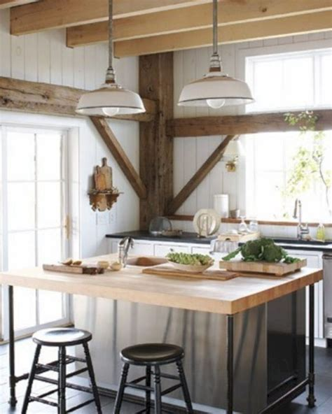 Rustic Kitchen Island Lighting 24 Farmhouse Rustic Small Kitchen Design And Decor Ideas 24 Spaces